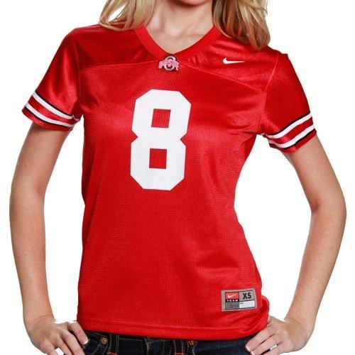 NIKE Ohio State Buckeyes Women's #8 Replica Football Jersey - Scarlet (Medium)