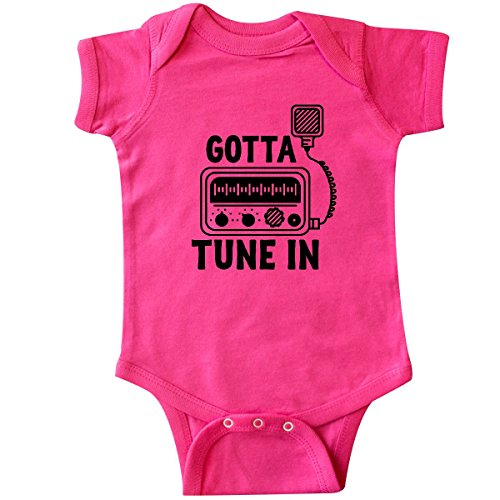 inktastic - CB Ham Radio Fan Trucker Gift Infant Creeper 6 Months Hot Pink 2e3bb ()