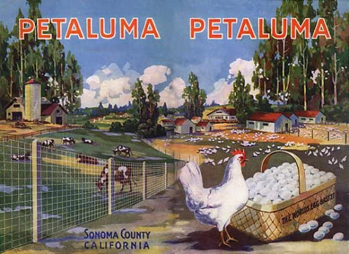 Farm Children Playing Kitchen Chickens Eggs Vintage Poster Repro FREE SHIPPING