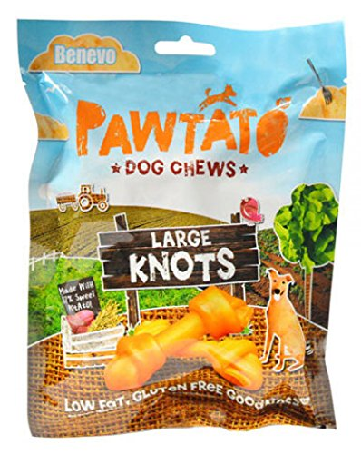 Carrot Bone (Benevo Vegan Pawtato Dog Chews (Large Knots))