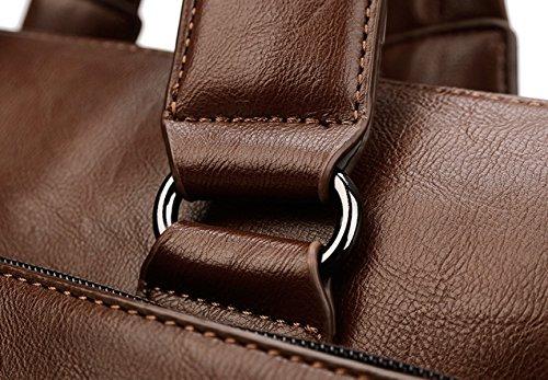 Hombres De Negocios De Cuero Bolso De Los Hombres De La Sección Cruz Bolso De Hombro Bolso Hombre Maletín Bolso De Cuero Bolsa De La Computadora Brown