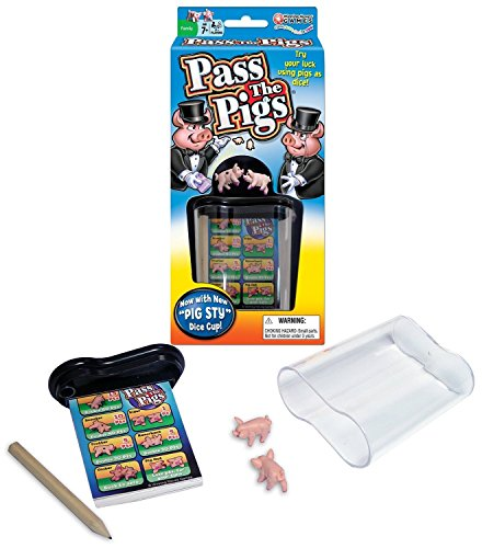 Big Game Toys~Classic Pass The Pigs Party Game Pig Sty Dice Cup Cards - Game Classic Party Pigs
