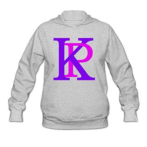 RABBEAT Women's Hooded Sweatshirt Katy KP Perry Size L Ash