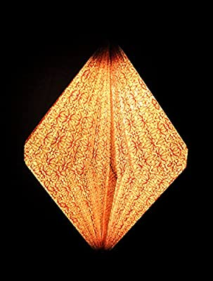 Vintage Handmade Paper Decorative Bedroom Hanging Lights Ceiling Lamp Shade 16 X 14 Inches