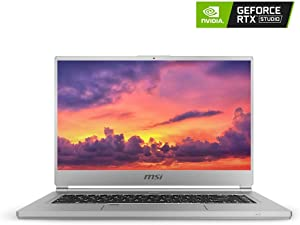 "MSI P65 Creator-1084 15.6"" 4K UHD Display, Ultra-Thin and Light, RTX Studio Laptop, Intel Core i7-9750H, GeForce RTX 2060, 32GB DDR4, 1TB Teton Glacier SSD, Win10PRO, VR Ready (Renewed)"