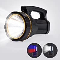 Super Bright USB Rechargeable LED Torch Handheld Spotlight Flashlight High Powered Lumens Outdoor Tactical Searchlight…