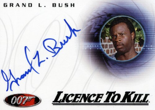 "James Thongs in Motion - Grand L. Bush ""Hawkins"" Autograph Card A114"