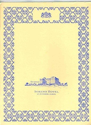 Bay Tampa Ocean (Soreno Hotel 3 Menu Set on Tampa Bay in St Petersburg Florida 1984)