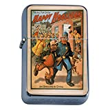 Silver Flip Top Oil Lighter Vintage Poster D-108 The All Fun Show Happy Hooligan An Uprising In China