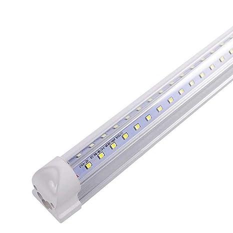 T8 Integrated LED Tube Light Fixture, 10-Pack of 4ft Ceiling Light ...
