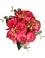 StarLifey Fake Peony Bouquet Silk Roses Wedding Decoration Spring Simulation Flowers