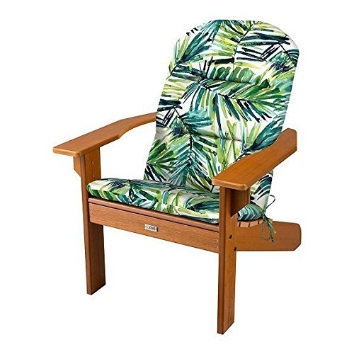 Patio OUTDOOR ADIRONDACK CHAIR CUSHION Replacement Pad Seat Fern Green