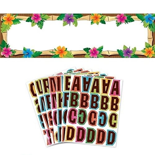 Hawaiian Party Personalized Banner - Amscan Luau Party Personalized Giant Sign Banner Set