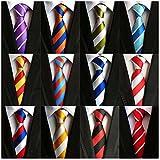 Weishang Lot 12 PCS Classic Men's 100% Silk Tie Necktie Woven JACQUARD Neck Ties (Style 8)