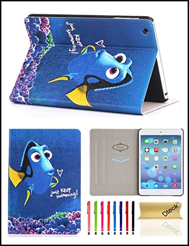 iPad Mini/ Mini Retina/Mini 3 Case, Dteck(TM) Ultra Slim [Lightweight] PU Leather Flip Folio Smart Stand Case Cover with [Auto Wake/Sleep Function] for Apple iPad Mini 3/ 2/ 1 (Swimming Fish)