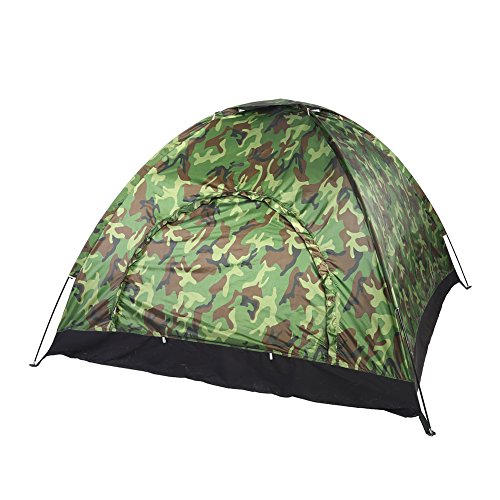 Camping Tent, Outdoor Camouflage Dome Tent Waterproof UV Protection Tent for 3-4 Persons