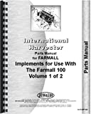 International Harvester 100 Tractor Implement Attachments Parts Manual