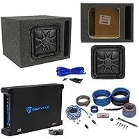 Kicker L7S104 L7 10 Solobaric Car Sub+Vented Enclosure+750W Amplifier+Amp Kit