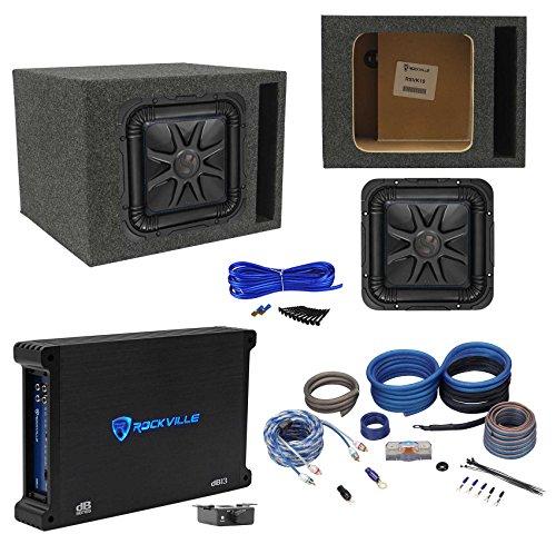 "Kicker L7S104 L7 10"" Solobaric Car Sub+Vented Enclosure+750W Amplifier+Amp Kit"