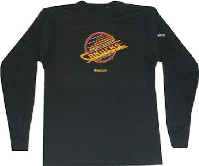 best website 2f1d5 49b44 Reebok Vancouver Canucks Throwback 1993 Long Sleeve Shirt at ...