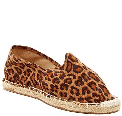 Bucco Naia Womens Fashion Vegan Slip-on Espadrille Leiligheter Leopard
