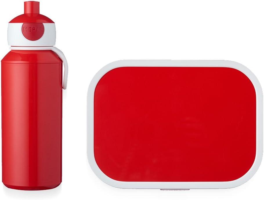 MEPAL Pop Up Cantimplora y Fiambrera lunchset de Campus de pubd de Color Rojo, ABS, 0mm, 2