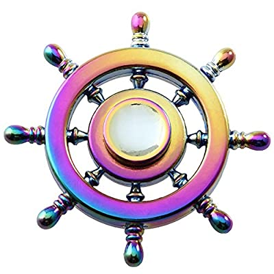 NUOFENG Rainbow Rudder Fidget Spinner Toys Hand Spinners EDC Focus Fingertip Gyro Stress and Anxiety Relief Toys