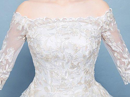 Di Era Occidentale da XL Sottile Dimensioni Sposa Principessa Abito Finale Sposa Bianca Grandi DIDIDD Fantasia Sposata UYpanHA