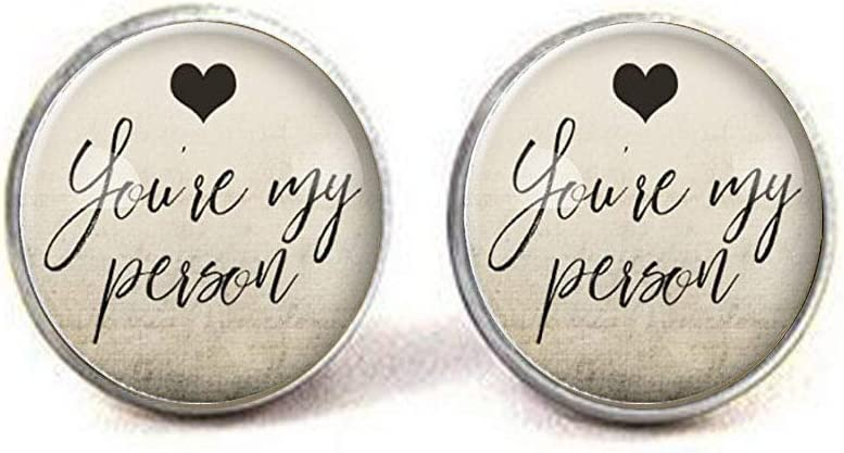 Amazon Com You Re My Person Cufflinks Gift Ideas For Her Gifts For Women Bff Best Friend Jewelry