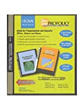 Itoya Clear Cover Profolio Presentation Books 36 pages (72 views)