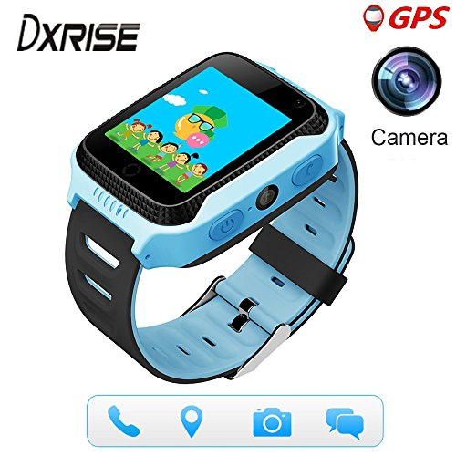 Dxrise Games Kids Smart Watch Kids Watches GPS Tracker Watch Phone GPS Smartwatch Smart Baby Watch Bracelet with Camera Flashlight Function for Girls Boys Toys Gift (Pink)