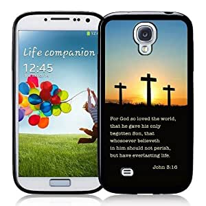 Cool Painting Galaxy S4 Case - S IV Case - Shawnex Bible Quote John 3 16 Samsung Galaxy i9500 Case Snap On Case