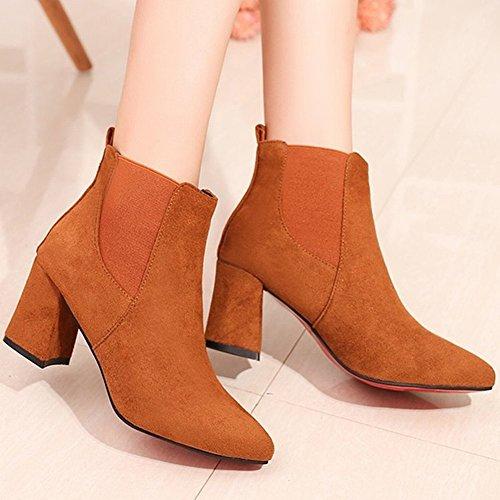 mit Match 34 schwarz Schuhe Single Damen Stiefeln Martin Stiefel Hohen Peeling Spitz Absätzen EUR Stiefel Boots All mit 5 Barfuss nIqR4xw8B