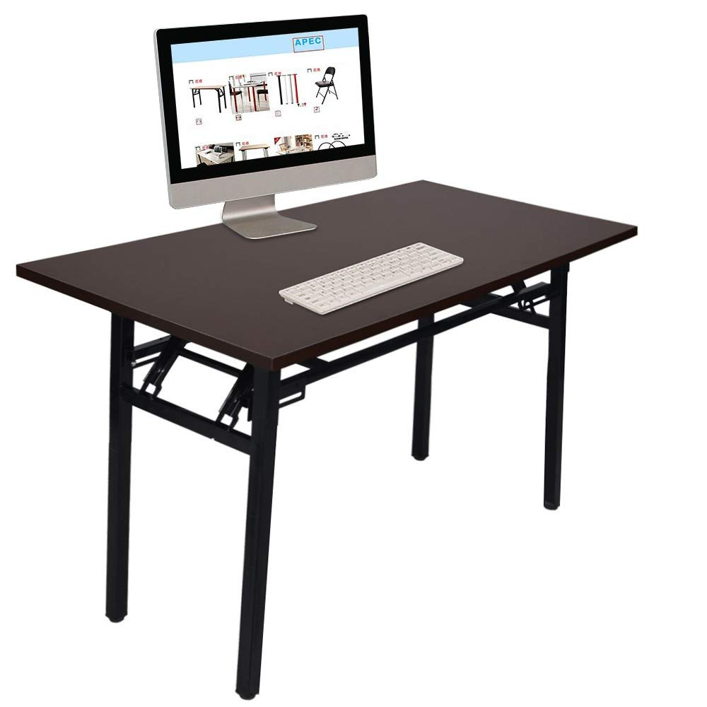 Computer Desk Portable Folding Office Table with Black Walnut Thickening 2.3cm Desktop, Shipped from US by JPOQW (Image #2)