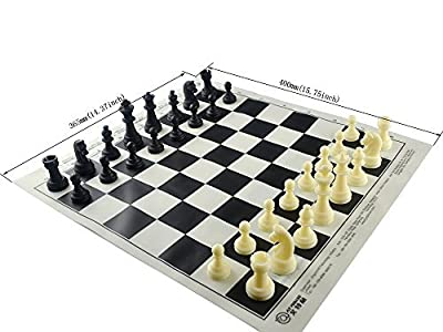 Chess Board Silicone Chess Mat Tournament Silicone Roll-up Chess Mat BPA Free