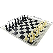 Tournament Silicone Roll-up Chess Board Safe for Children (Black)