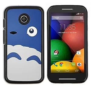 TECHCASE---Cubierta de la caja de protección para la piel dura ** Motorola Moto E ( 1st Generation ) ** --Feliz monstruo azul lindo de las ovejas de los ojos
