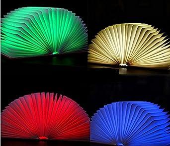 SUPERLT Folding LED Book Lamp Nightlight Booklight Open the Cover ...