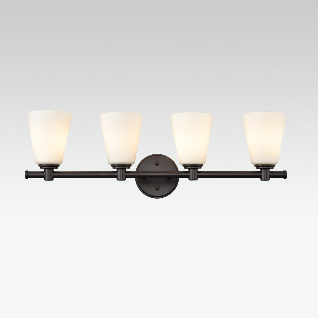 AXILAND Vanity Lighting 4 Light Oil Rubbed Bronze Wall Sconce with Opal Glass Shade by AXILAND (Image #7)