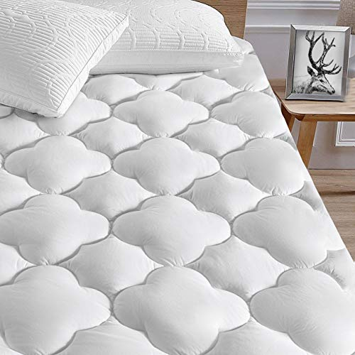(SERWALL Cal King Mattress Pad Cover, Cooling Mattress Protector for 8-21