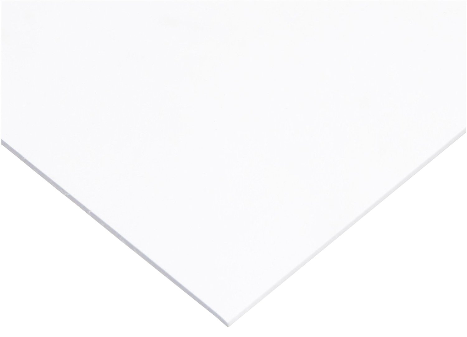 PVC (Polyvinyl Chloride) Shim Stock, Flat Sheet, White, 0.025'' Thickness, 10'' Width, 20'' Length (Pack of 10) by Small Parts