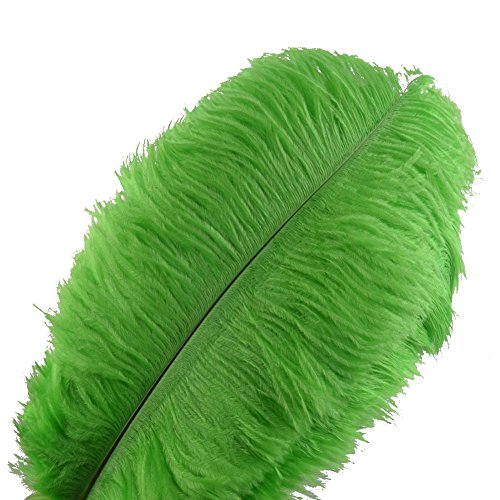 - Sowder 10pcs Ostrich Feathers 12-14inch(30-35cm) Plume Home Wedding Decoration (Lime Green)