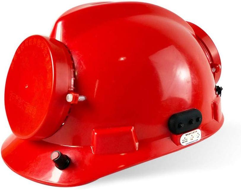rechargeable battery Fan Cooling Safety Helmet dual fan helmet Working Helmet Hard Hat Construction Workplace ABS Rainproof (red) 51WPJoLIf5L