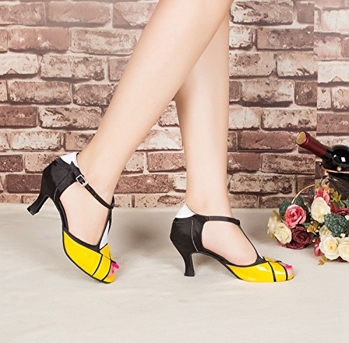 Buckle L199 Wedding MY Latin Sandals Synthetic Black Strap Shoes Miyoopark T Dance Heel 5cm Yellow Ladies 7 qnvp8tP