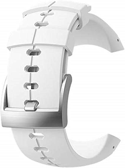 Suunto Original Ersatz Uhrenarmband Für Alle Suunto Sparten Ultra Uhren Silikon Länge 24 5 Cm Stegbreite 25 Mm Weiß Silber Inkl Stifte Zur Montage Ss022690000 Sport Freizeit