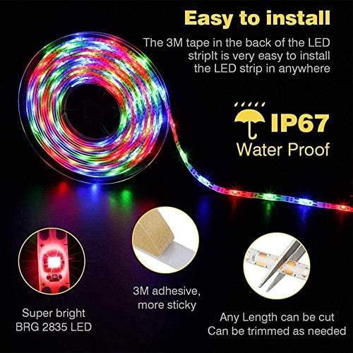 LDTSWES® Solar Strip Light LED Flexible Lichterkette 2 Modi Automatische Schalter Licht Weiß B 3M