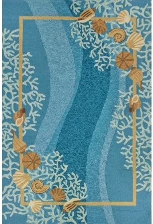 Robin Pickens PP-RP005B Shells and White Coral Outdoor Door Mat44 22 x 34 in.
