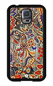 iZERCASE Flowers on Wood Pattern RUBBER Samsung Galaxy S5 Case - Fits Samsung Galaxy S5 T-Mobile, AT&T, Sprint, Verizon and International