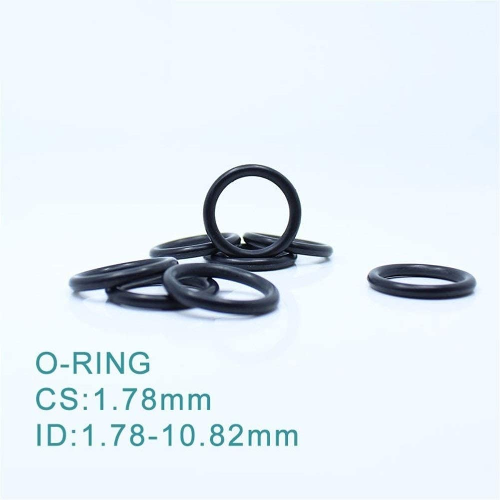 Size : ID3.69x1.78mm Rings DINGGUANGHE CS1.78mm EPDM O Ring 100PCS ID 1.78//2.57//2.9//3.69//4.47x1.78mm O-Ring Gasket Seal Exhaust Mount Rubber Insulator Grommet ORING Gasket