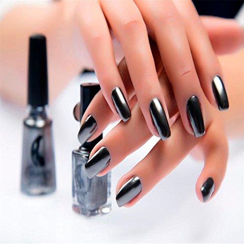 Nail Polish,SMYTShop Mirror Nail Polish Plating Paste Metallic Lacquer 6ml 6 Colors (Metallic Nail)
